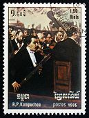 Postage Stamp Cambodia 1985 Opera Orchestra, By Edgar Degas