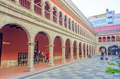 LA PAZ, BOLIVIA, MAY 8, 2014 - Convent of San Francisco, the cloister