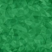 Abstract green vector mosaic pattern. Vector pattern with paper texture. Vector abstract background