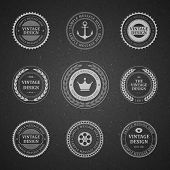 Vintage vector design elements. Retro style chalkboard typographic labels, tags, badges, stamps, arr