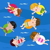 Swimming children