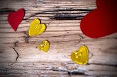 picture of love hurts  - Lovely Heart Background with many Different Hearts on an Old Wooden Plank