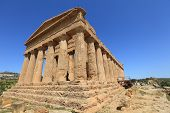 ancient ruins of Agrigento temple, Italy