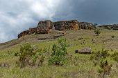 Interesting sedimentary rock in Giants Castle