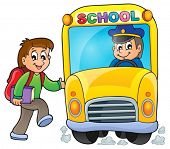 Image with school bus theme 5 - eps10 vector illustration.