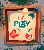 Playground card \ poster design. Vector illustration
