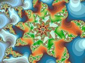 Decorative fractal flower in a motley colors