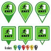 Exit flat navigation pins