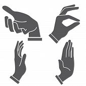 pic of petition  - set of 4 set of hand in different postures - JPG