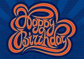 Happy Birthday Hand Lettering - Handmade Calligraphy