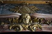 image of versaille  - Marble seal on roof top at Versailles Palace - JPG