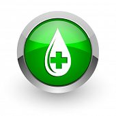 blood green glossy web icon
