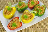 Stuffed Paprika With Meat And Vegetables