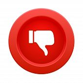 thumb up red button