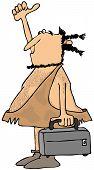 Hitchhiking caveman