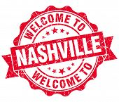 Welcome To Nashville Red Vintage Isolated Seal