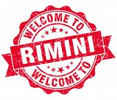 Welcome To Rimini Red Vintage Isolated Seal