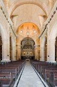 HAVANA,CUBA - JULY 9, 2014 : Interior view of the Cathedral of Havana