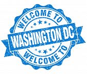 Welcome To Washington Dc Blue Vintage Isolated Seal