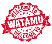 Welcome To Watamu Red Vintage Isolated Seal