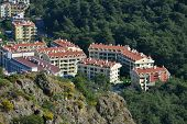 MARMARIS, TURKEY - APRIL 17, 2014: New residential buildings in Marmaris. City population increases
