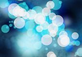 Abstract background blue image with bokeh lights