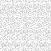 White Curved Lines Seamless Pattern