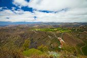 Gran Canaria, Aerial View West From Pico De Bandama