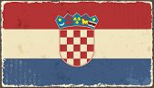 Croatian grunge flag. Vector illustration