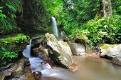 Waterfall in Borneo, Mahua Waterfall