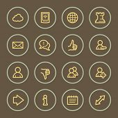 Social media web icons set, coffee series