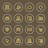 Internet web icons set, coffee series
