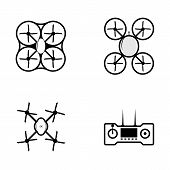 Vector icons for quadrocopter