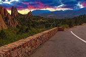Sunset Image of the Garden of Gods