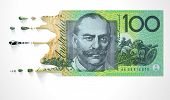 Australian Dollar Melting Dripping Banknote