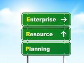 3D Enterprise Resource Planning Road Sign