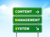 3D Content Management System Road Sign