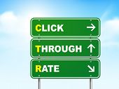 3D Click Through Rate Road Sign