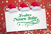 frohes neues jahr against snowflake wallpaper pattern