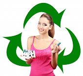 foto of waste reduction  - Recycle concept - JPG