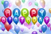 Happy Birthday Balloon Colorful Balloons
