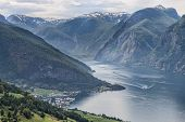 The Fiord At Aurland, Norway