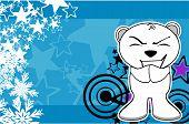 polar bear cartoon xmas background