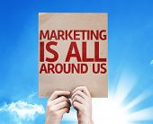 Marketing is All Around Us card with beautiful day