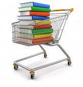 Shopping Cart and Book (clipping path included)
