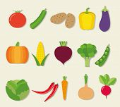Vegetable Icon Set. The Image Of Vegetables Symbol