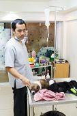 Veterinarian Care Illness Puppy In Veterinary Clinic ,thailand