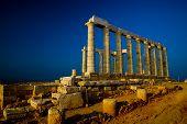 Temple Of Poseidon (W. Copy Space)