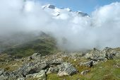 Rocks And Peaks Nearby Sustenpass
