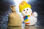 Christmas Snowman Toy And Sack